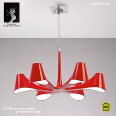 ora ceiling light mantra presents a collection that combines an avant garde design with efficient lighting ora is produced in three colour finishes red ceiling avant garde