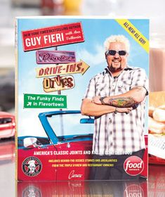 Plan a road trip with the All-New Diners, Drive-Ins & Dives Book and you'll enjoy the most delicious meals you've ever tasted. Food Network star Guy Fieri takes us around the U. and Canada to show us where the most amazing food is hidden Food Network Star, Food Network Recipes, Homegrown Restaurant, Ltd Commodities, Guy Fieri, Lakeside Collection, Food Places, Book Crafts, Diving