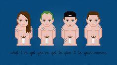Red Hot Chili Peppers (With Socks) Rock Band - Digital PDF Cross Stitch Pattern
