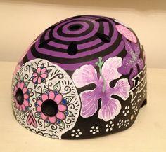 Custom paintjob on Roller Derby helmet by Ann-Marie Dewhurst