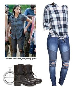 Tara Chambler - twd / the walking dead by shadyannon on Polyvore featuring polyvore fashion style Equipment Steve Madden clothing