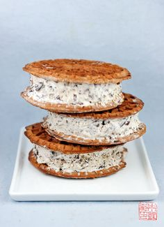 Pizzelle Ice Cream Sandwiches!! @Heather Di Bernardo-Hampton we are making these!!