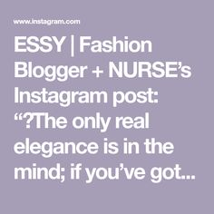 """ESSY   Fashion Blogger + NURSE's Instagram post: """"✨The only real elegance is in the mind; if you've got that, the rest really comes from it 💛  Today I see life in Yellow """"Je vois la vie en…"""" Rest, Mindfulness, Elegant, Yellow, My Style, Instagram Posts, Life, Fashion, Classy"""