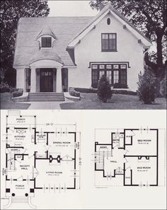 !! The Carlyle  From 101 Modern Homes by Standard Homes Company, 1923