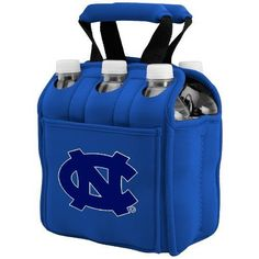 NCAA North Carolina Tar Heels Six Pack Cooler Tote by Picnic Time. $25.00. Picnic Time digital print team logoed 6 pack cooler tote. A great way to celebrate your almamater. Securely houses standard size beverages; Great for tailgating!. Durable Neoprene insulates and protects 6 bottles or cans. Handy side pocket for personal items. This Picnic Time Six Pack team logoed insulated beverage tote features a durable Neoprene construction with comfy padded handles and allows  you to ...