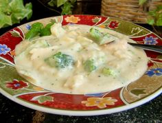 "Chicken Broccoli Alfredo Soup from Food.com:   								Here's a scrumptious soup served at Dairy Keen (three-time ""Best of State"" winner) of Heber City, Utah. This is a recipe I've not had long, but have made over and over and OVER again. It is that good!"