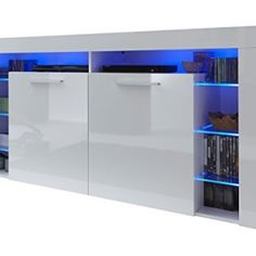 Furnline-1475-870-01-Score-High-Gloss-Living-Room-Cabinet-Sideboard-White-0