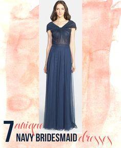 7 Unique Navy Bridesmaid Dresses
