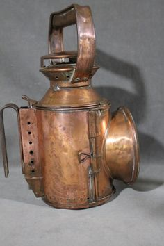 Old Kerosene Lanterns | about Antique 19thC Kerosene British Railways Railroad Copper Lanterns ...