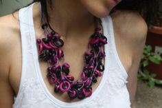 Very berry necklace tagua disks and acai seeds by Allie eco friendly jewel