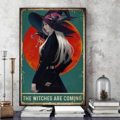 The witches are coming raven poster art Halloween Wall Decor, Love Posters, Beautiful Love, Poster Wall, Christmas Fun, Raven, Witches, Canvas, Animals