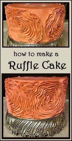 How to make a Ruffle Wedding Cake