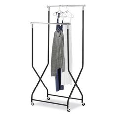 Buy Whitmor 2-Tier Flared Rolling Garment Rack in Black from Bed Bath & Beyond