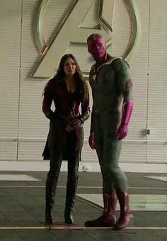 Vision and Wanda Maximoff #scarletwitch #Avengers #scarletvision