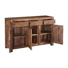34716 in by Coast To Coast Imports in Marshall, AR - 3 Drw 3 Dr Sideboard Tractor Room, Rustic Buffet, Warehouse Loft, Distressed Painting, Sideboard Buffet, Panel Doors, Wood Construction, Adjustable Shelving, Buffet