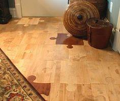 Puzzle piece flooring