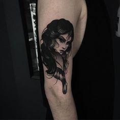 Gipsy tattoo by Pari Corbitt PariCorbitt gipsy black monochrome