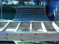 Build your own skate ramp Half Pipe Plans, Backyard Skatepark, Mini Ramp, Skateboard Ramps, Skate Ramp, Quad Skates, Build Your Own, Garden Projects