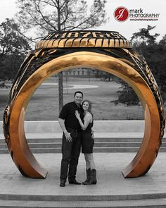 Our little gold ring reminds the world everday that we are Aggies and we are Family!