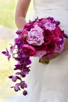 Pink and radiant orchid #wedding #bouquet ~ Photography: Photography by Melisa // Floral Design: Tanarah Luxe Florals | http://www.bellethemagazine.com/2013/12/12-stunning-wedding-bouquets-part-24.html