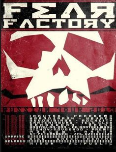 Great Poster from the Fear Factory Russian Tour_2013
