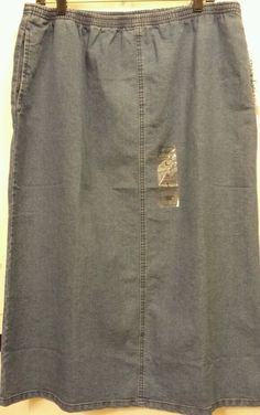 Speculation Womens Sz L blue jeans straight elastic stretch long denim skirt #speculations #StraightPencil