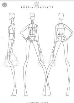 Body Poses Fashion Sketchbook Sketches Figure Templates