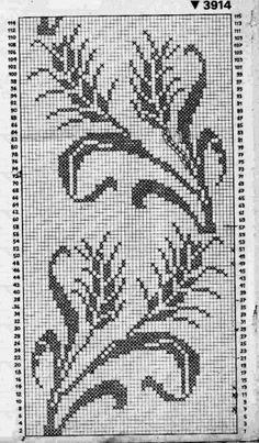 Cross Stitch Bird, Cross Stitch Borders, Cross Stitch Flowers, Cross Stitch Designs, Cross Stitch Patterns, Filet Crochet Charts, Crochet Cross, Thread Crochet, Crochet Curtains