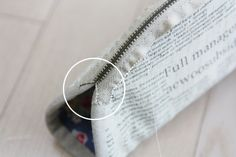 Zippered Cosmetic Bag. DIY Pattern & Tutorial in Pictures.   Косметичка на молнии. МК.