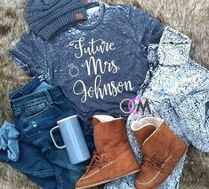 This Future Mrs. Tee is a Must Have for any Future #Bride. Engagement Shirt, Engagement Shirt, Future Mrs. Tank, Future Mrs.Shirt, Bachelorette shirts, Wedding Party Shirts #bridegifts #bridalshowertshirts #customgifts #bridal #personalisedtshirt #bridesmaidgifts #bridesmaidshirts #tanktops #brideshirt #bride #bridesmaid #bridesmaidtshirt #bridalshirts #tshirts #etsyclothes #etsyparty #custombrideshirt Brides Maid Shirts, Bride Shirts, Ladies Christmas Shirts, Squad, Country Girl Shirts, Country Outfits, Sassy Shirts, Funny Shirts, Future Mrs