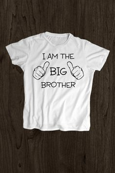 Kids T Shirt -Toddler Shirt - Screen Printed -100% - I Am The Big Brother - by MargaridaWorkshop on Etsy