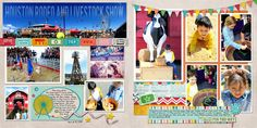 Scraps of Shirlee Houston Rodeo Carnival Layout