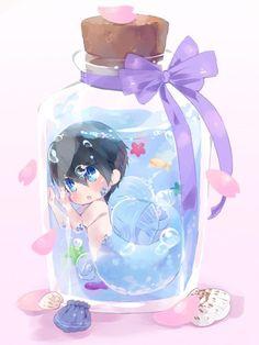 Bottled mer ... From lesfrites ... Free! - Iwatobi Swim Club, haruka nanase, haru nanase, haru, nanase, haruka, free!, iwatobi, merman