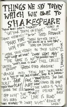 Thanks to Shakespeare