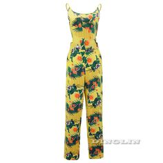 Gzdl夏女性のセクシーなクラブウェア花遊び着ボディコンパーティー包帯スキニーロングジャンプスーツ黄色プリントビーチロンパースCL2831
