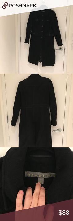 👍NEW LISTING👍.Kenneth Cole Reaction Wool Coat Great coat, lots of pockets.  80% wool, 20%nylon.  Smoke-free/pet-free. Reaction Kenneth Cole Jackets & Coats