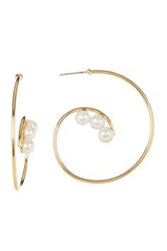 Let It Shine Imitation Pearl Earrings