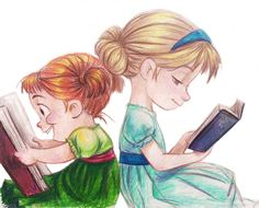 "So me and my sis growing up :) ""Frozen Sisters"" (by IronicChoice)"