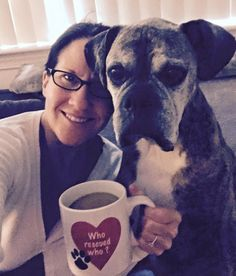 """Beautiful Millie and her mom!  """"Who rescued who?"""""""