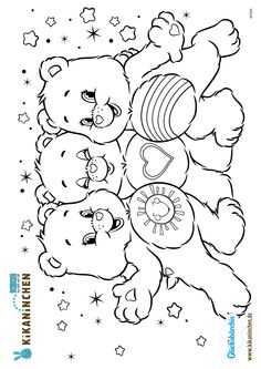 Bear Coloring Pages, Coloring Sheets, Coloring Pages For Kids, Adult Coloring, Coloring Books, Candy Drawing, Cartoon Sketches, Care Bears, Printable Coloring