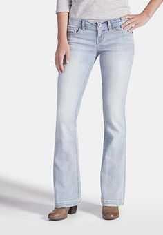 e9bce53a97 denim flex   light wash flare jeans (original price, $39) available at #