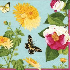 Beautiful paper napkins, plates, etc., from this site.