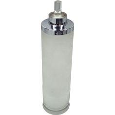 Glass Chrome Rock Crystal Cocktail Shaker