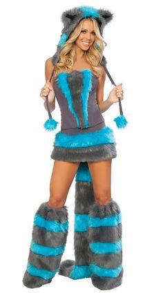 Halloween clothes christmas fox blue plush cat women's grey fur winter cat women's wear on AliExpress.com. 5% off $55.40
