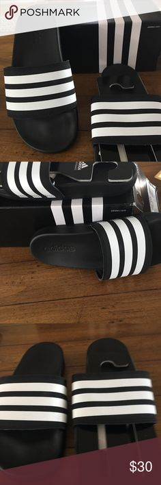 cheap for discount 9ca31 174b4 Shop Women s adidas Black White size 5 Athletic Shoes at a discounted price  at Poshmark. Description  New with tags Size 5 women.