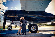 Engagement Shoot #vintage #airplane