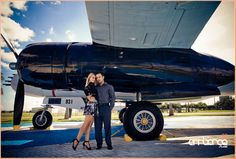 Engagement Shoot #vintage #airplane