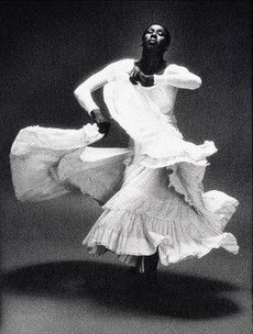 This is Judith Jamison  one of the celebrated Alvin Alley dancers. You can just feel the emotion.