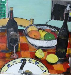 Petillo Piero. Painting- oil on canvas. Table in Tuscany