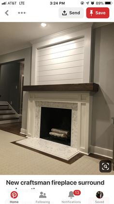 17 Simple Design Living Room Fireplace - Home Decor Fireplace Redo, Family Room Fireplace, Fireplace Remodel, Fireplace Design, Shiplap Fireplace, Fireplace Ideas, Mantel Ideas, Living Room Mantle, Decorating A Mantle